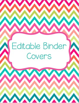 Bright Editable Binder Covers