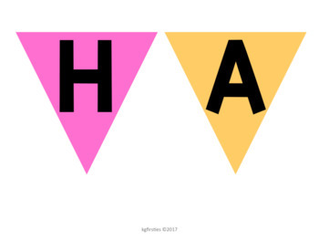 Bright Editable Birthday Posters and Pennant