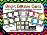 FREE Bright Editable Cards {A Hughes Design}