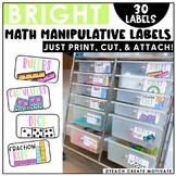 Bright & Editable Math Bin Labels