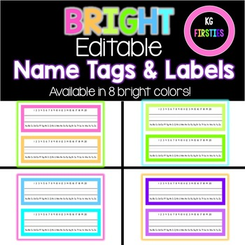 Bright Editable Name Plates and Labels