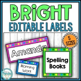 Bright Editable Polka Dot Labels {5 Sizes}