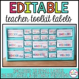 Bright Editable Teacher Tool Kit Labels