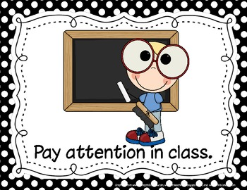 Bright-Eyed Student Classroom Rules Posters