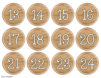 Bright Farmhouse Editable Student Numbers (1-48)