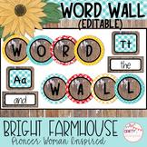 Bright Farmhouse - Pioneer Woman Inspired - Editable Word Wall
