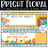 Bright Floral Desk Name Tags