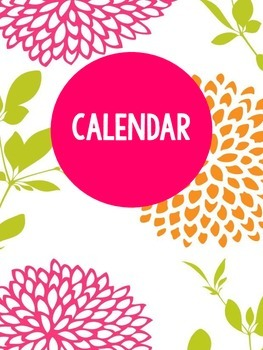 Bright Floral Teacher Binder Freebie