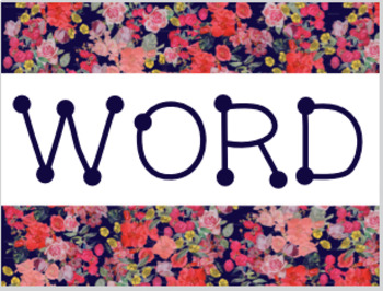 Bright Floral Word Wall