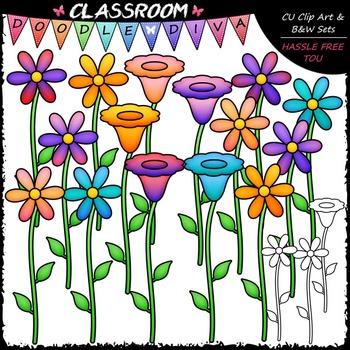 Bright Flowers Clip Art