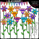 Bright Flowers Clip Art