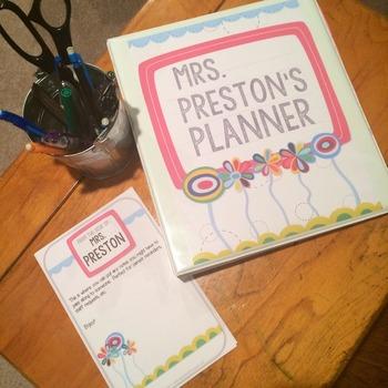 Bright Flowers Teacher Lesson Planner