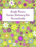 Bright Flowers Teacher Stationery Set: Personalizable