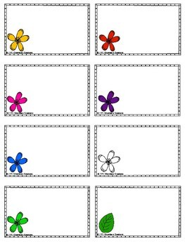 Bright Flowers Themed Classroom Labels!