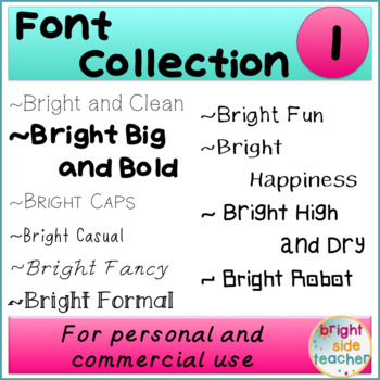 Bright Font Collection 1