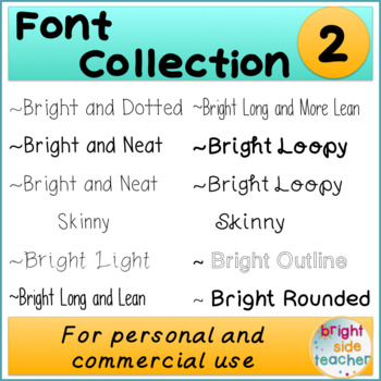 Bright Font Collection 2