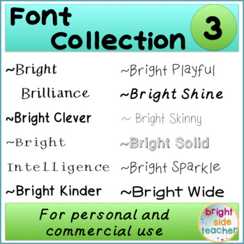 Bright Font Collection 3