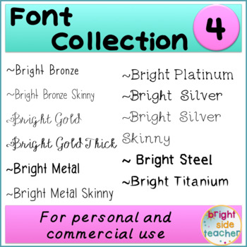 Bright Font Collection 4