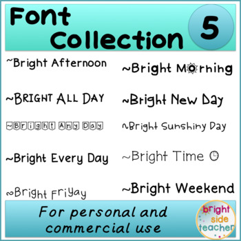 Bright Font Collection 5