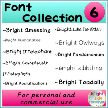 Bright Font Collection 6