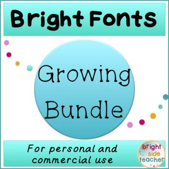 Bright Fonts Growing Bundle