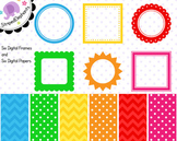 Bright Freebie Clip Art Frames and Paper Pack