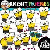 Bright Friends Clipart {Light bulb Clipart}