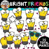 Bright Friends Clipart {Light bulb Clipart}