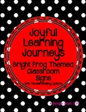 Bright Frog Themed Classroom Signs with Flexible Seating