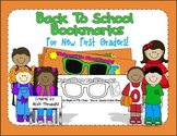 Back to School Bookmarks for First Grade