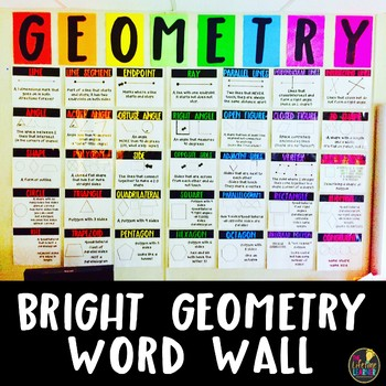 Bright Geometry Word Wall
