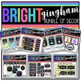 Bright Gingham Classroom Decor BUNDLE with EDITABLE features