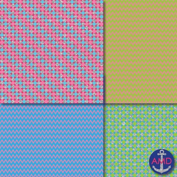 Bright Glitter Fairy Chevron, Polka Dot & Striped Papers for Bulletins and More