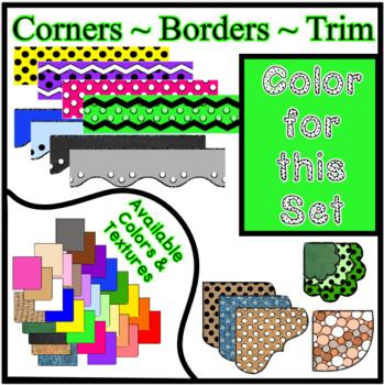 Bright Green Borders Trim Corners *Create Your Own Dream Classroom/Daycare*