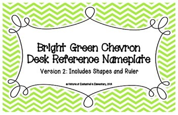 Bright Green Chevron Desk Reference Nameplates Version 2