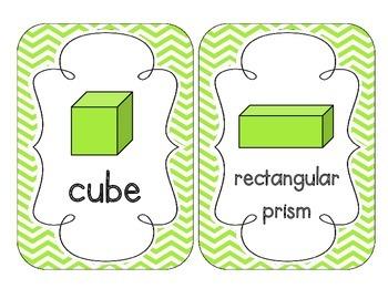 Bright Green Chevron Shape Cards
