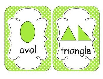 Bright Green Polka Dot Shape Cards