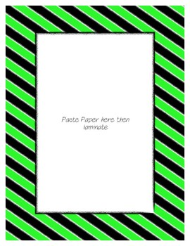 Bright Green Poster Frames * Create Your Own Dream Classroom / Daycare *