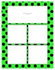 Bright Green Sorting Mat Frames * Create Your Own Dream Classroom / Daycare *