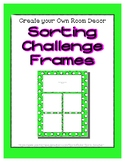 Bright Green Sorting Mat Frames * Create Your Own Dream Cl