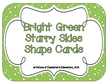 Bright Green Starry Skies Shape Cards