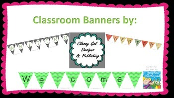 Bright Green Welcome Banner