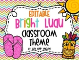 Bright  Hawaiian Luau Classroom Theme Set- Rainbow, Beach,