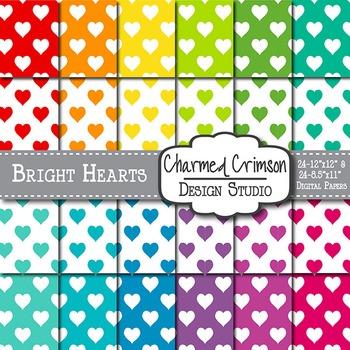 Bright Heart Digital Paper 1084