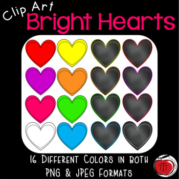 Heart Clip Art - Brights and Chalkboard