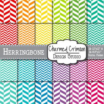 Bright Herringbone Digital Paper 1005