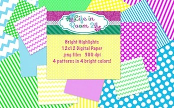 Bright Highlights {12x12 Digital Paper Pack}