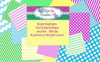 Bright Highlights {12x12 Digital Paper Pack}