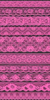 Bright Hot Pink Lace Borders Clipart png Scrapbook Embellishments