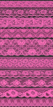 Bright Hot Pink Lace Borders Clipart png Scrapbook Embellishments